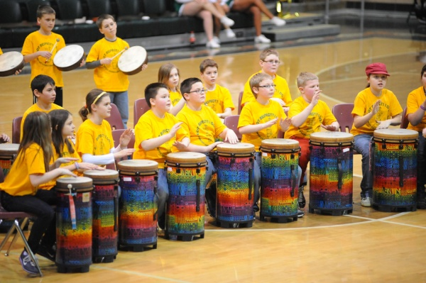 Basketball Half Time Kids Drum Circle